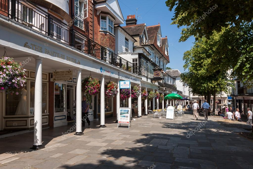 A view of the Pantiles shopping centre