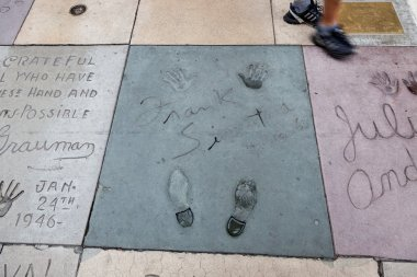 Frank Sinatra signature and handprints Hollywood