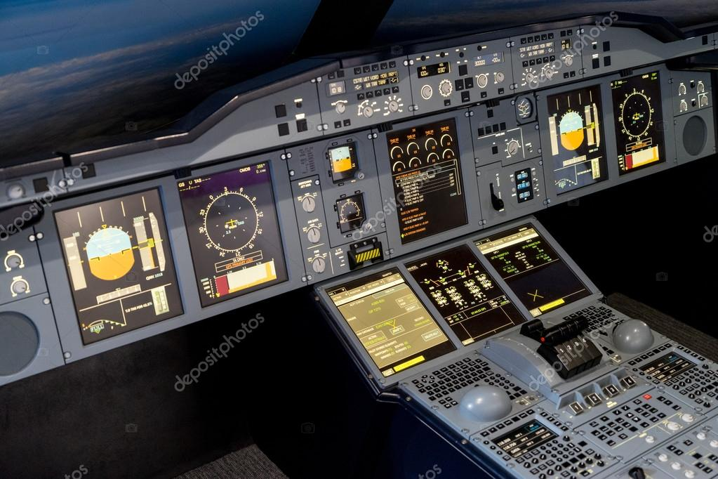 Airbus A-380-800 flight simulator — Stock Photo © phil_bird #48762767