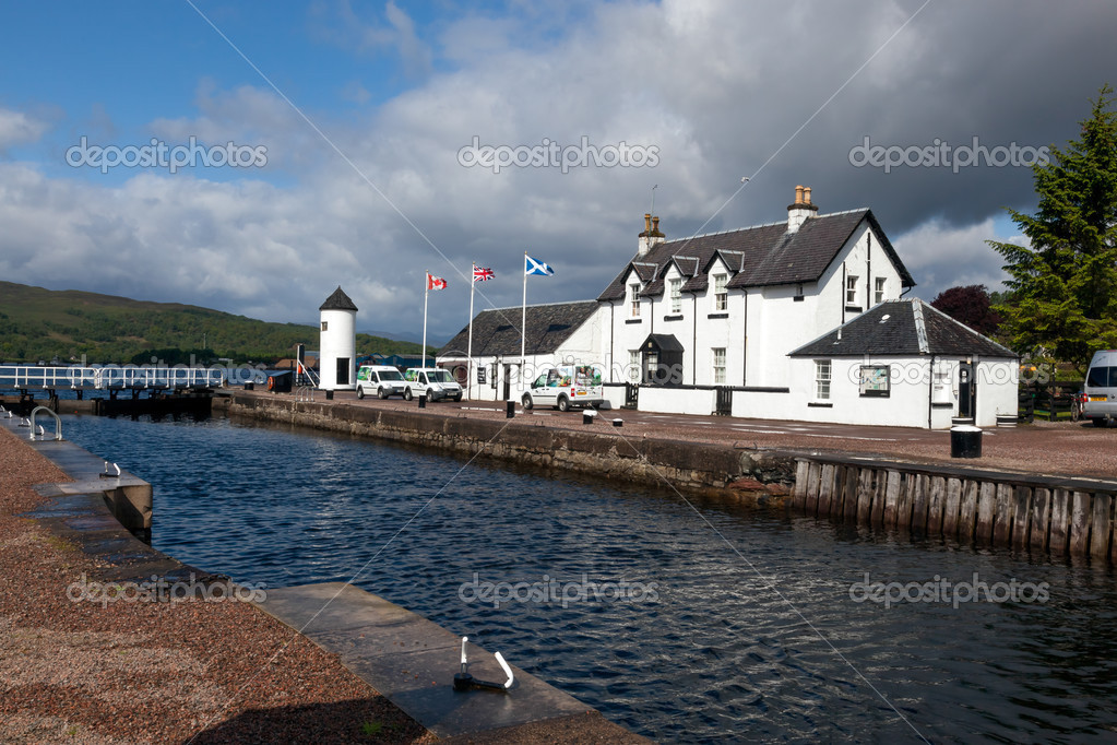 Caledonian canal at Corpach