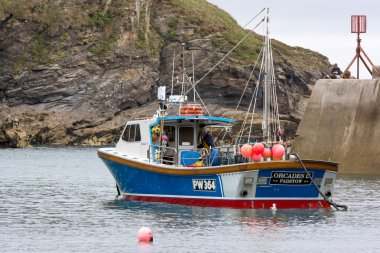Fishing boat in Port Isaac Cornwall