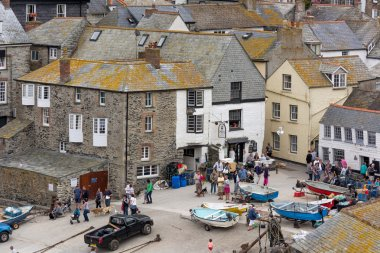 A view of Port Isaac in Cornwall