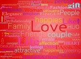 bezešvé vzor s slovo láska