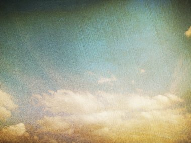 Retro image of cloudy sky stock vector