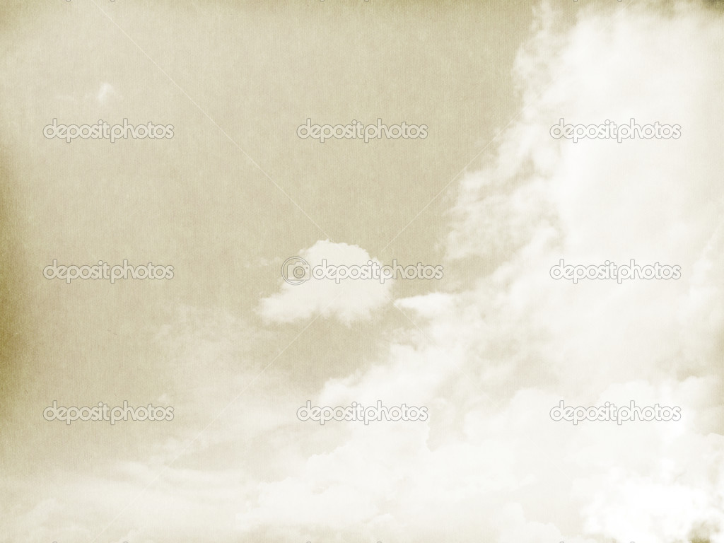 Fog And Clouds On A Vintage Textured Paper Stock Photo