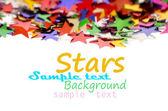 Fotografie barevné hvězdičky pozadí pro váš text na fotografii a další