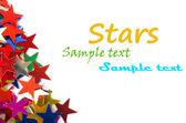 a szöveg a fénykép, és más színű csillag háttér