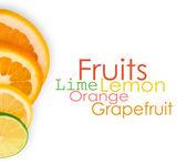 Fotografie vitamín c přetížení, stohy nakrájeným ovocem