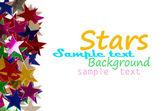 karácsonyi dekoráció, színes konfetti csillag