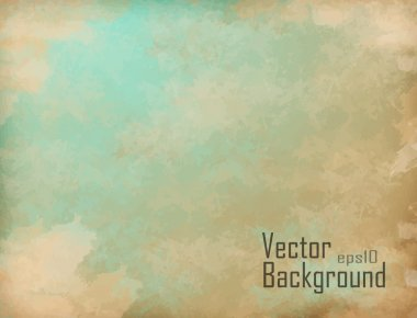 Clouds on a textured vintage paper vector background