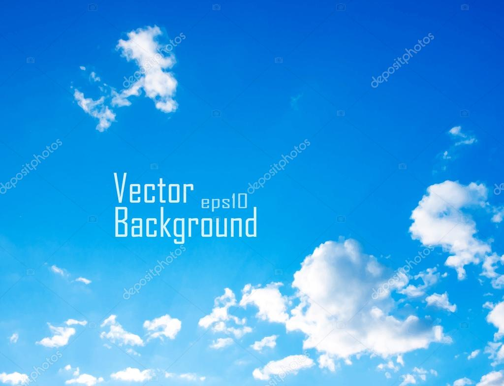 Vector sky. Sky with clouds.
