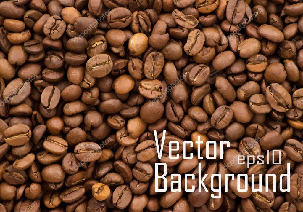Vector coffee beans background.