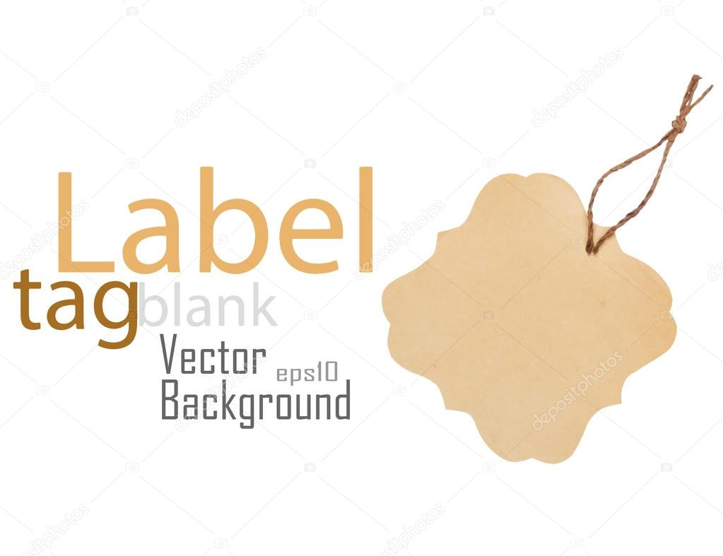Blank label or tag isolated on white. Vector