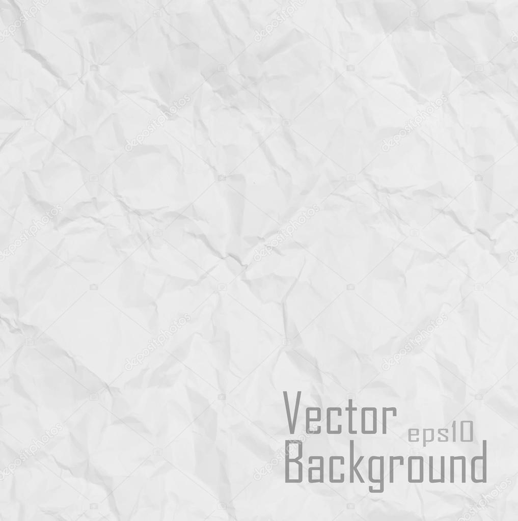 Vector. Paper texture. White paper sheet.