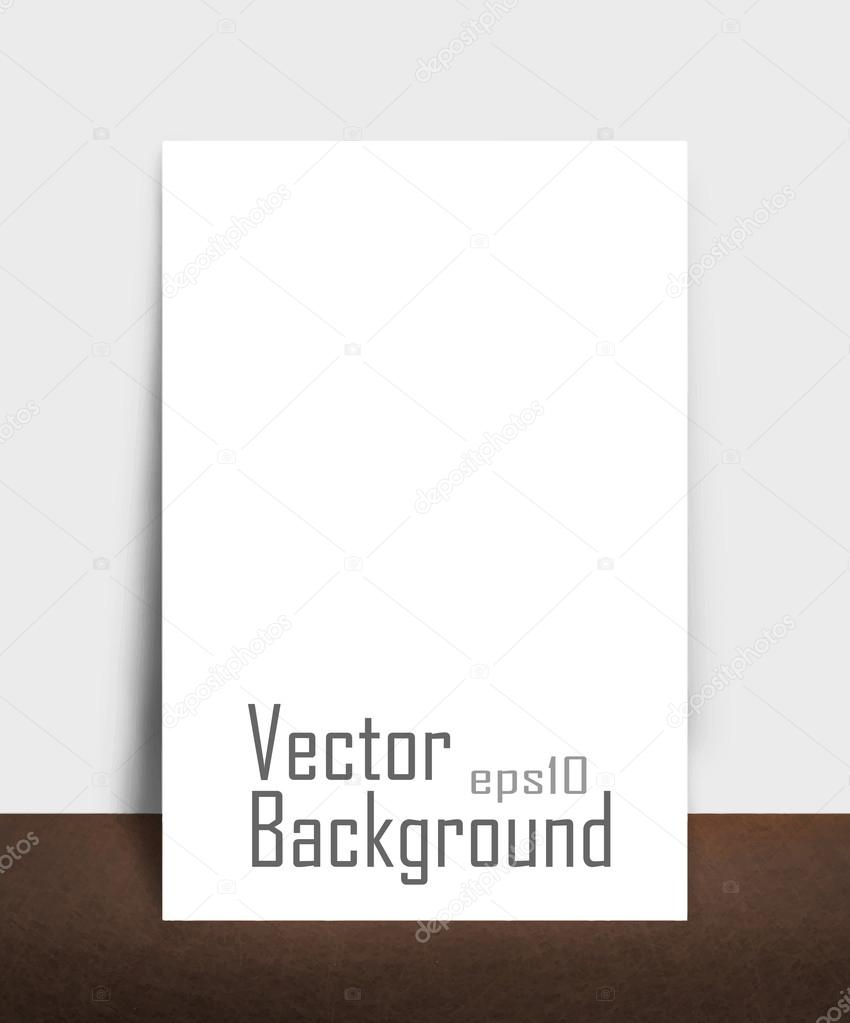 blank picture hanging on wall. vector
