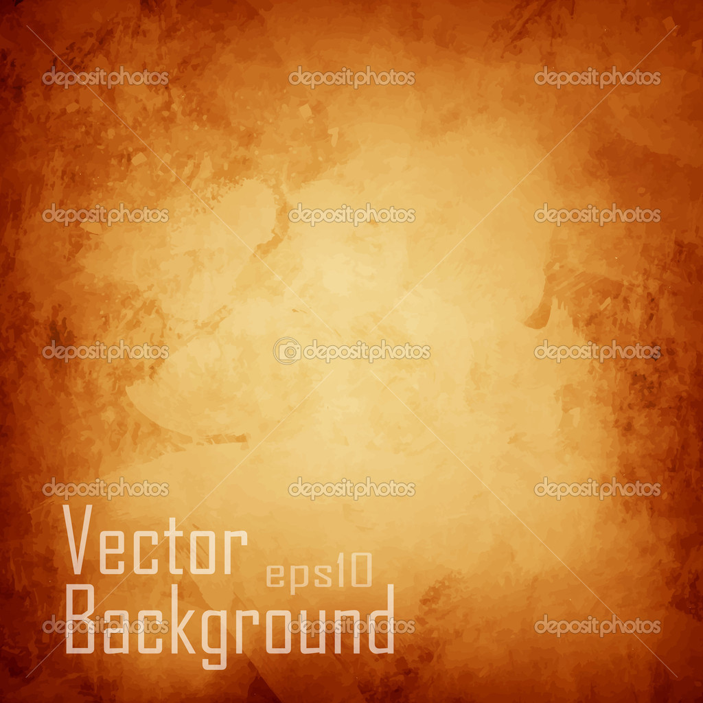 Vector orange abstract watercolor macro texture background