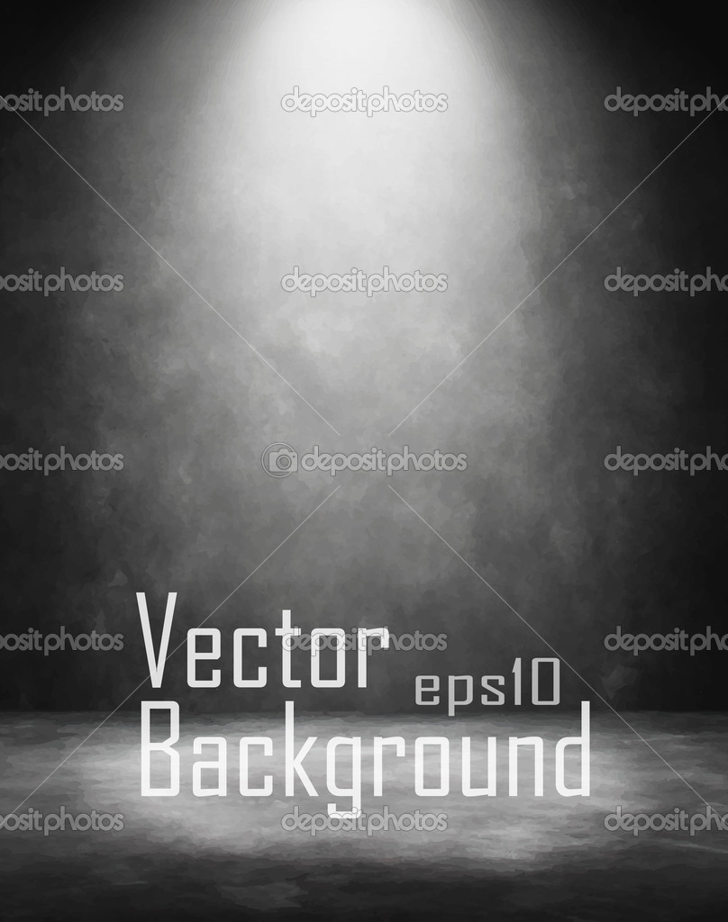 Grunge retro vintage interior. Vector background.