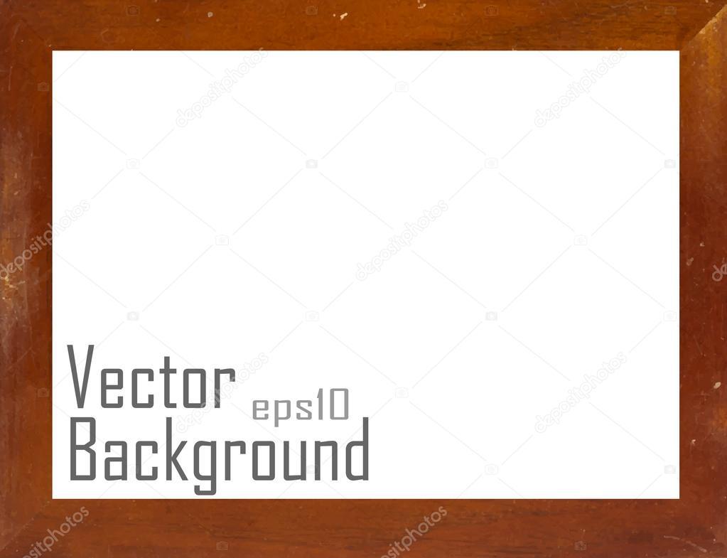 Vintage Bilderrahmen, Holz vergoldet, Vektor-Hintergrund ...