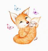 Fotografie legrační fox se motýl