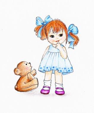 Cute little girl with Teddy bear