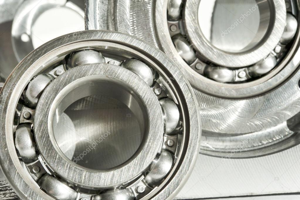 Metal bearings. CNC technology, mechanical engineering.