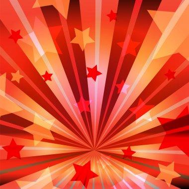 Stars and radiating rays