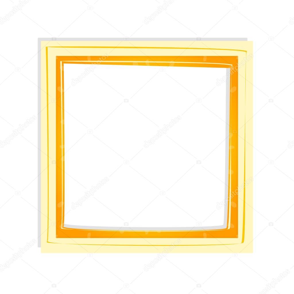 marco de fotos brillantes vector en tonos amarillos y naranjas ...