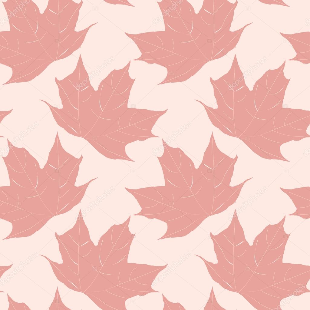 Autumn seamless pattern of red maple leaves. Vector eps10.