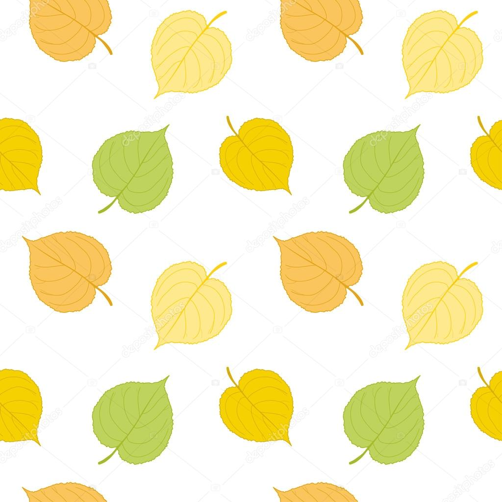 Seamless pattern of autumn falling leaves. Vector eps 10.