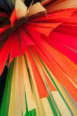 dolní krásné barevné tkaniny