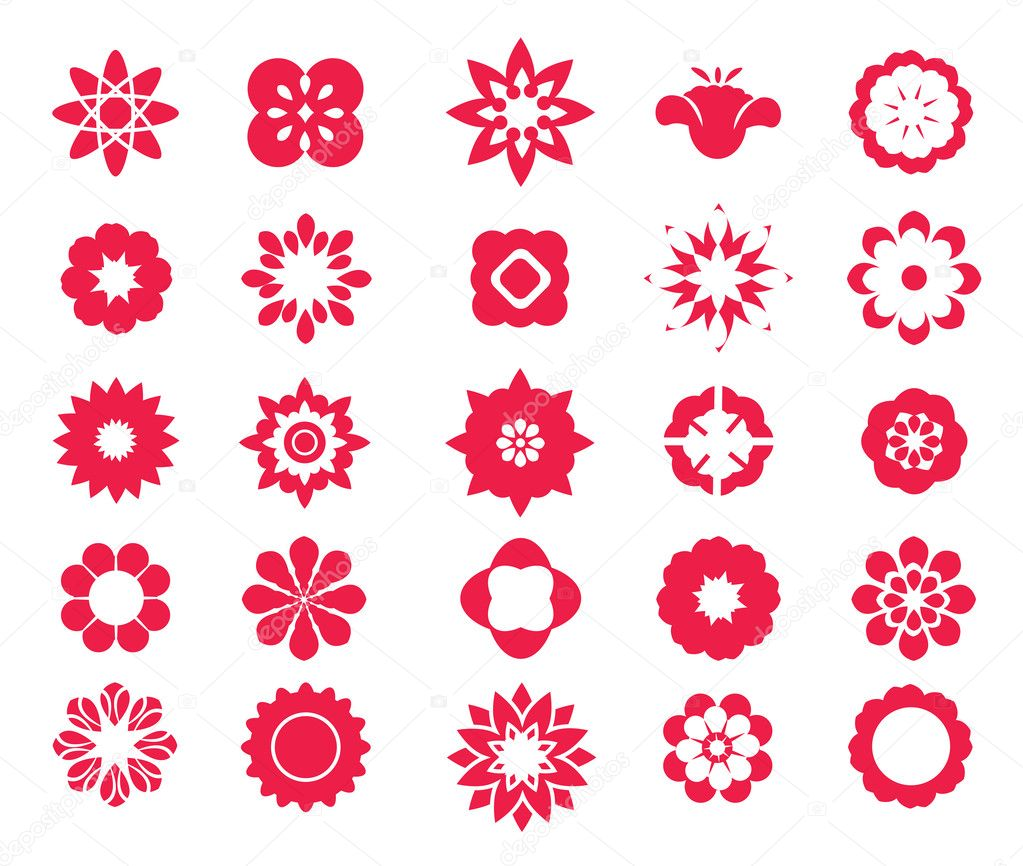 Flower icon set 2.