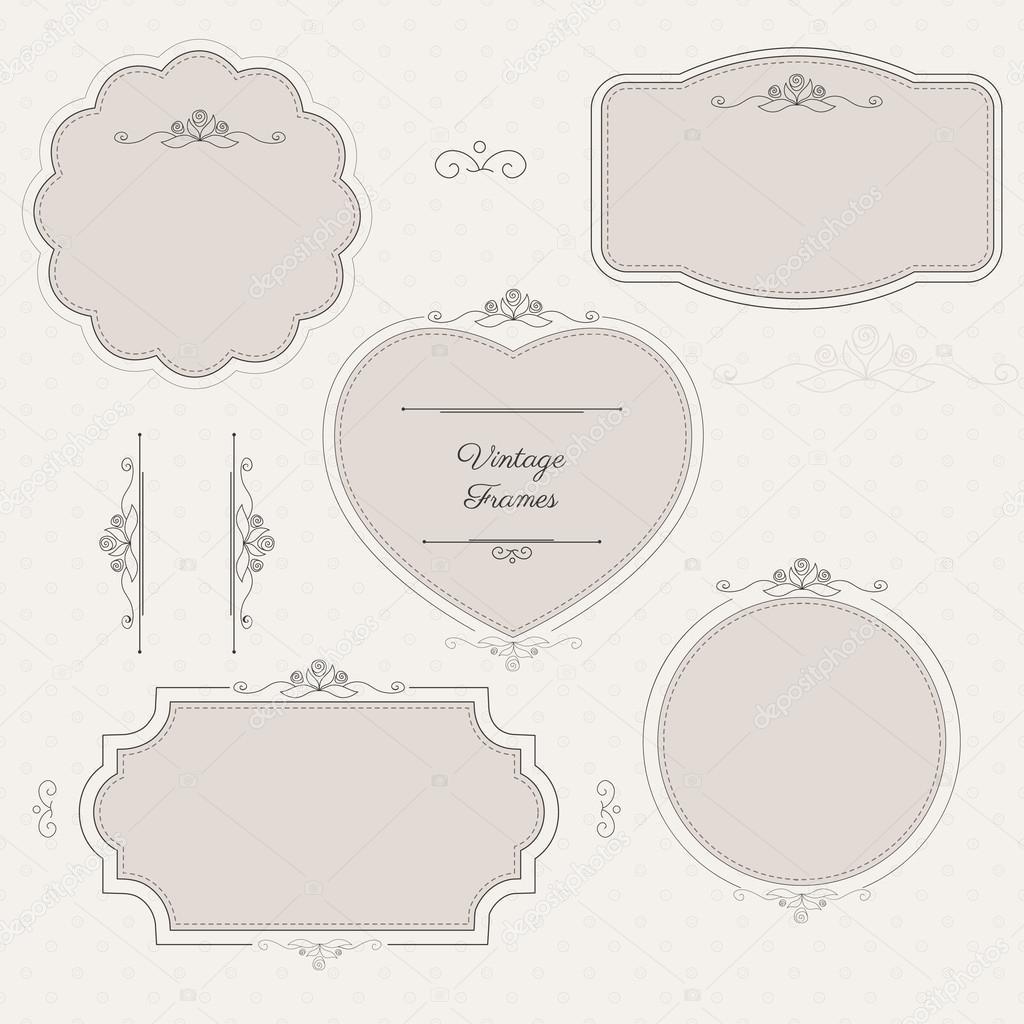 marcos clásicos románticos con elementos florales en ba patrón de ...