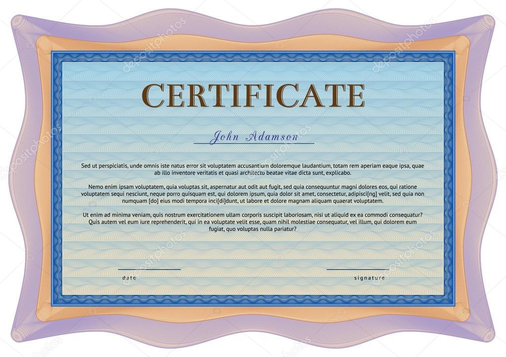 plantilla de certificado vector horizontal con elementos labrada ...