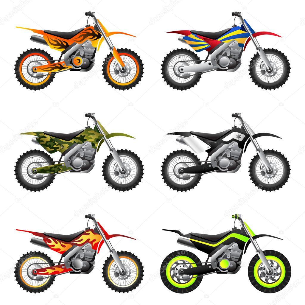 Fotos Dibujo De Motos Deportivas Conjunto De Motocicletas