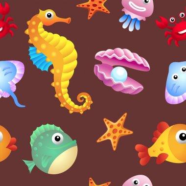 Sea creatures background