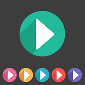 Flat game graphics icon play