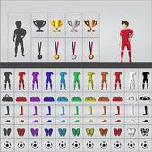 Fotografie fotbalová souprava oblečení v ikony