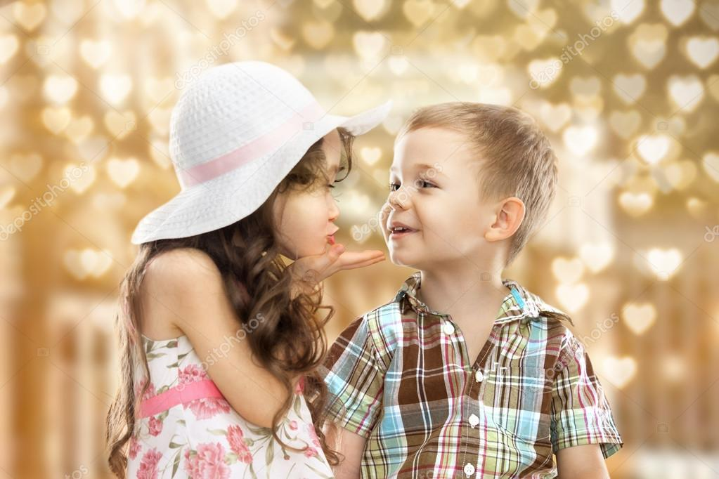 Little Girl Kissing Boy  Stock Photo  Svetaorlova 38584047-4126