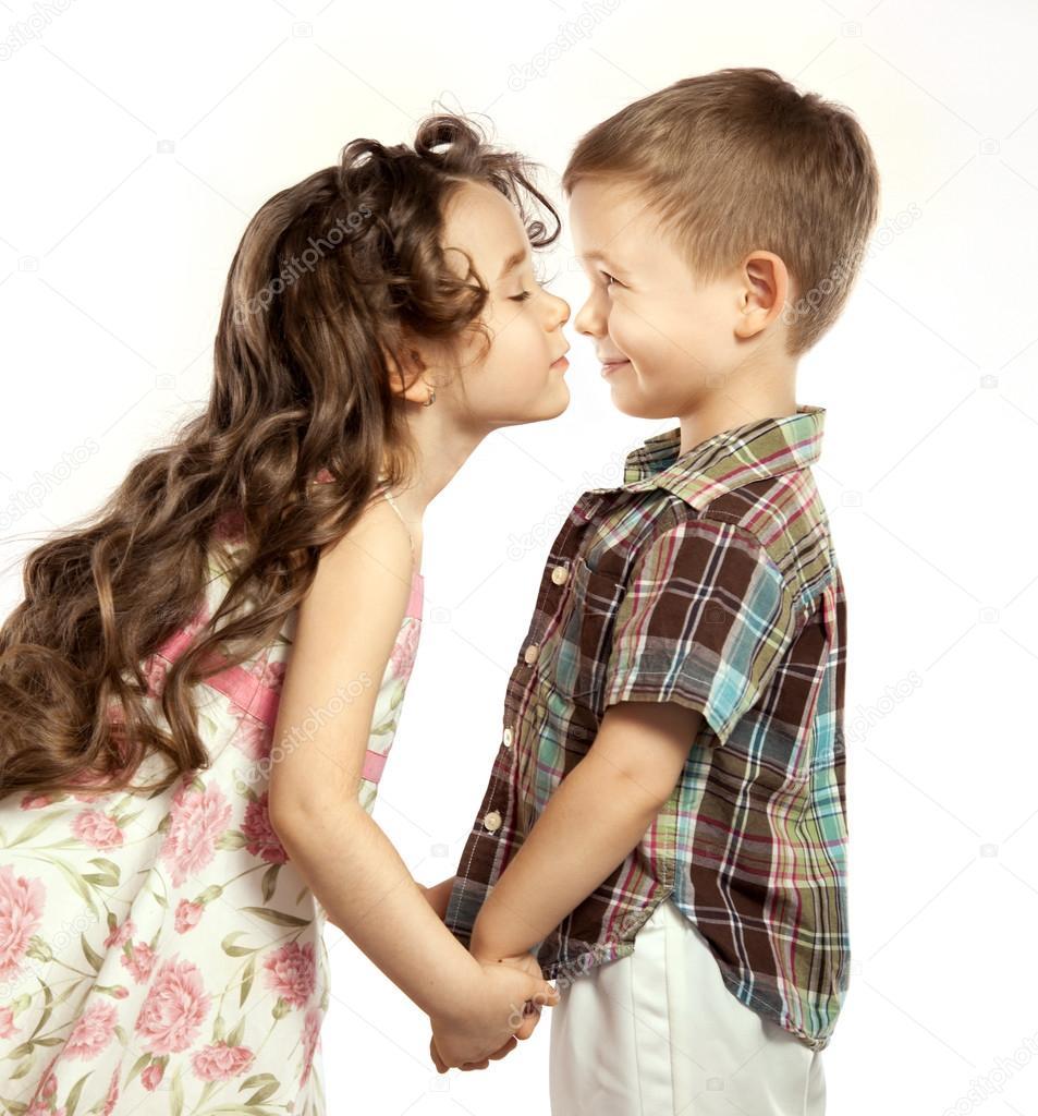 Little Girl Kissing Boy  Stock Photo  Svetaorlova 39398957-9158