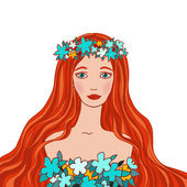 Fotografie Illustration of Virgo astrological sign as a beautiful girl.