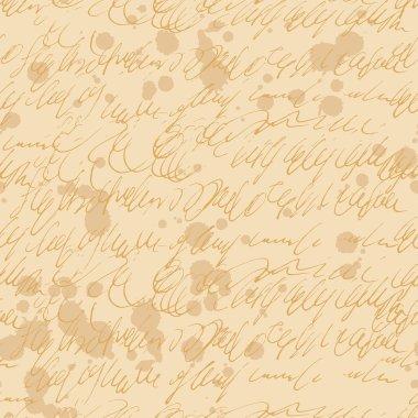 Hand written letter doodles seamless vector pattern.