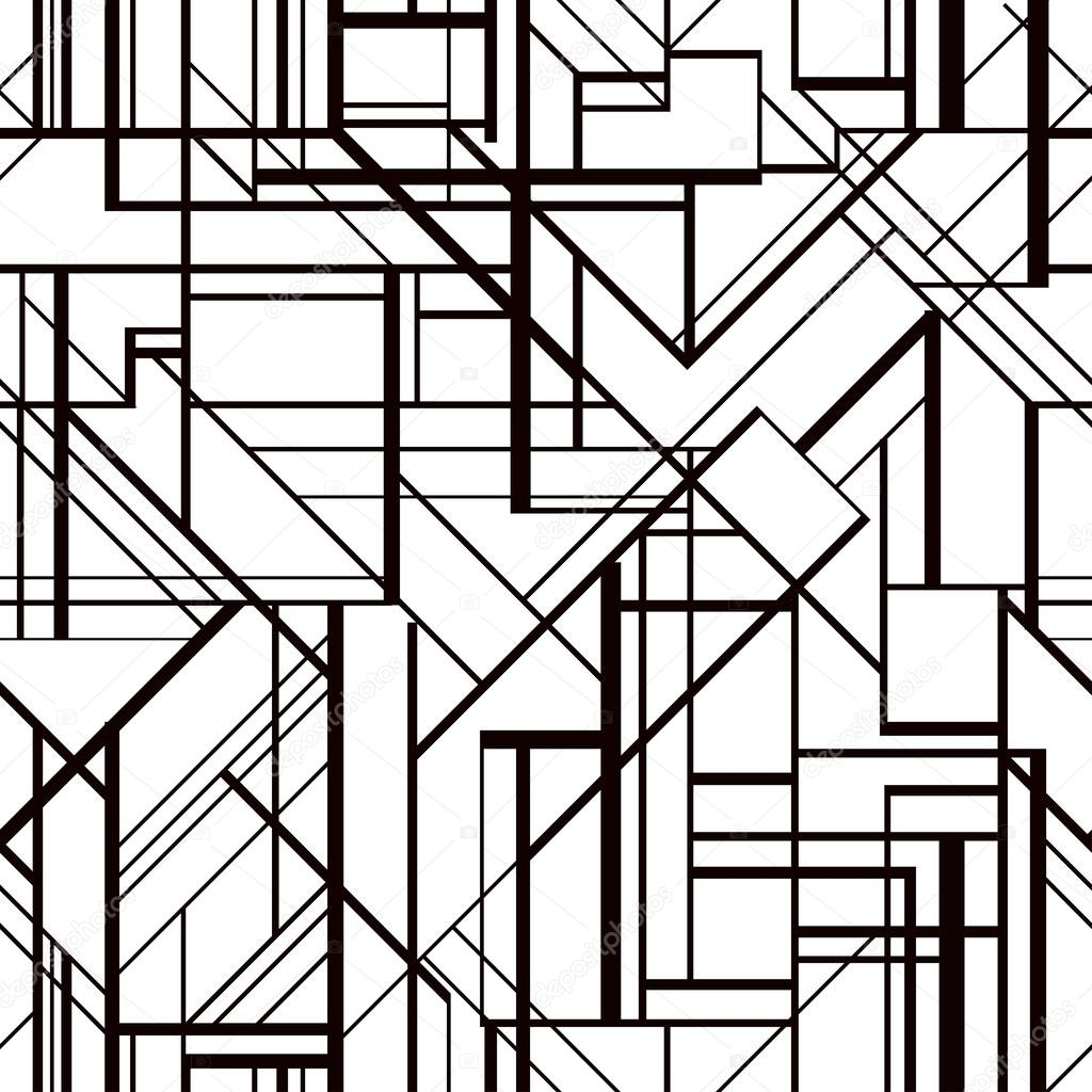 Art Deco Style Vector Geometric Pattern Stock