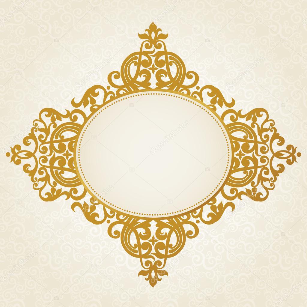 Vector baroque frame in Victorian style. — Stock Vector ...