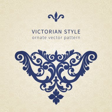 Baroque ornament in Victorian style