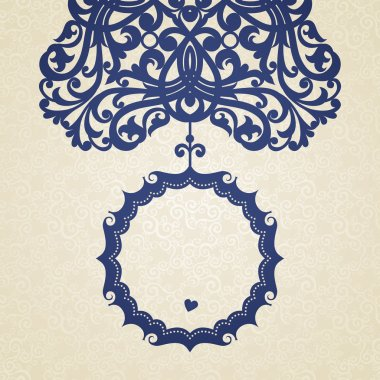 Vector baroque frame in Victorian style