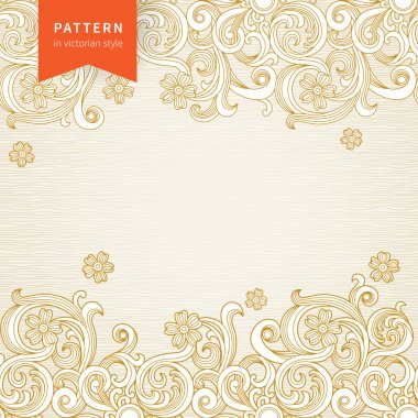 Vector ornate floral pattern in Victorian style.