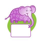 Fényképek Vektoros illusztráció rajzfilm elefánt