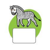 Fényképek a szöveg helyét és zebra
