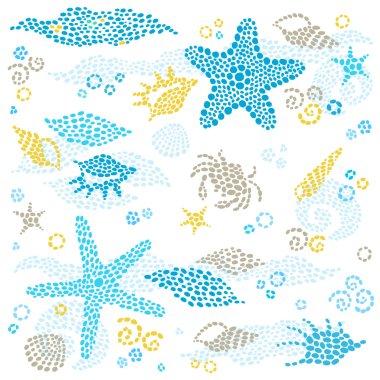Marine life pattern.