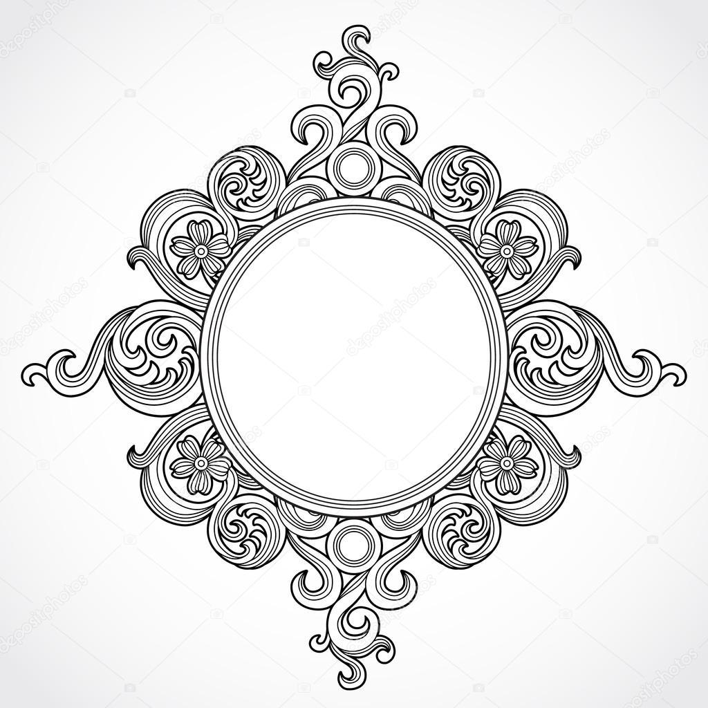 ab485ede049 Vintage ornate frame — Stock Vector © AnnaPoguliaeva  44150809